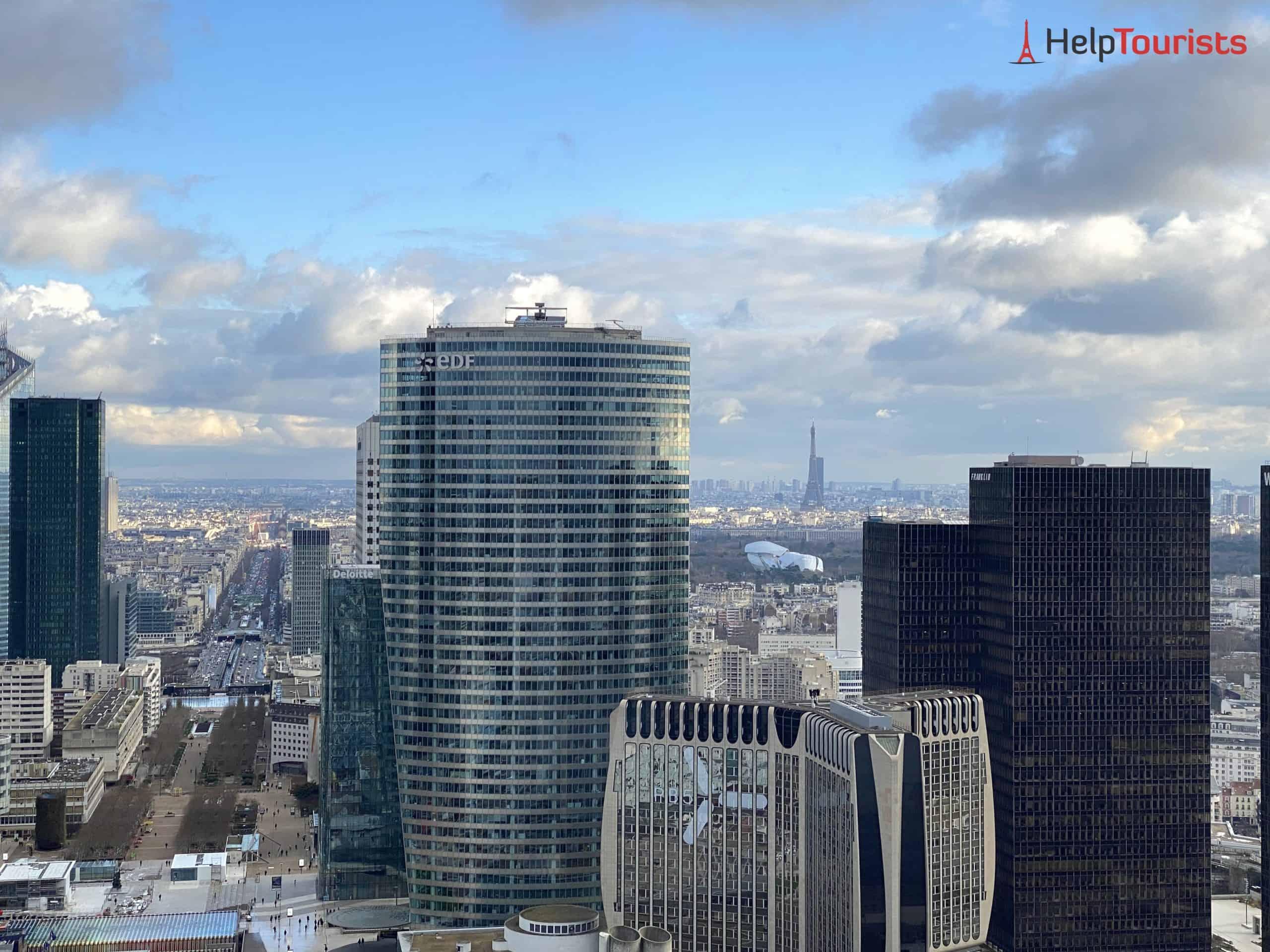 Paris La Défense Grande Arche Aussicht Wolkenkratzer