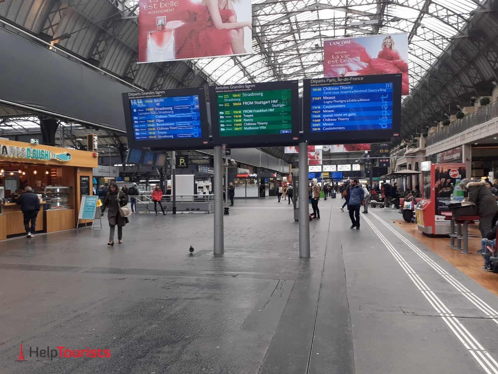 Paris Gare de l'Est Ankunftshalle