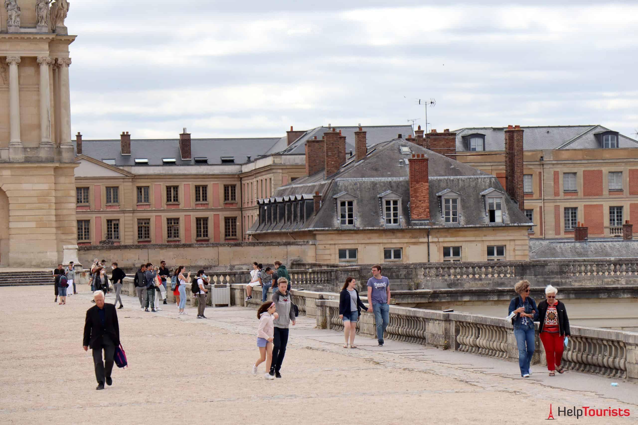 Paris Versailles Garten Besucher
