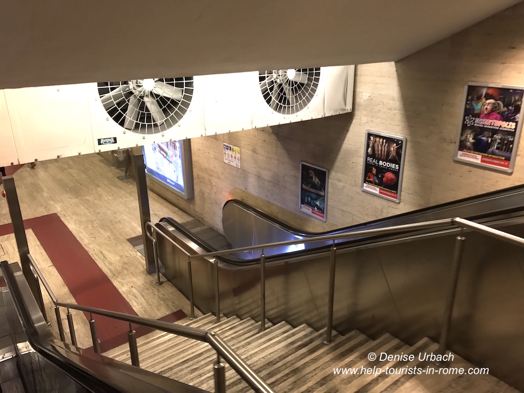 Metroausgang Rom