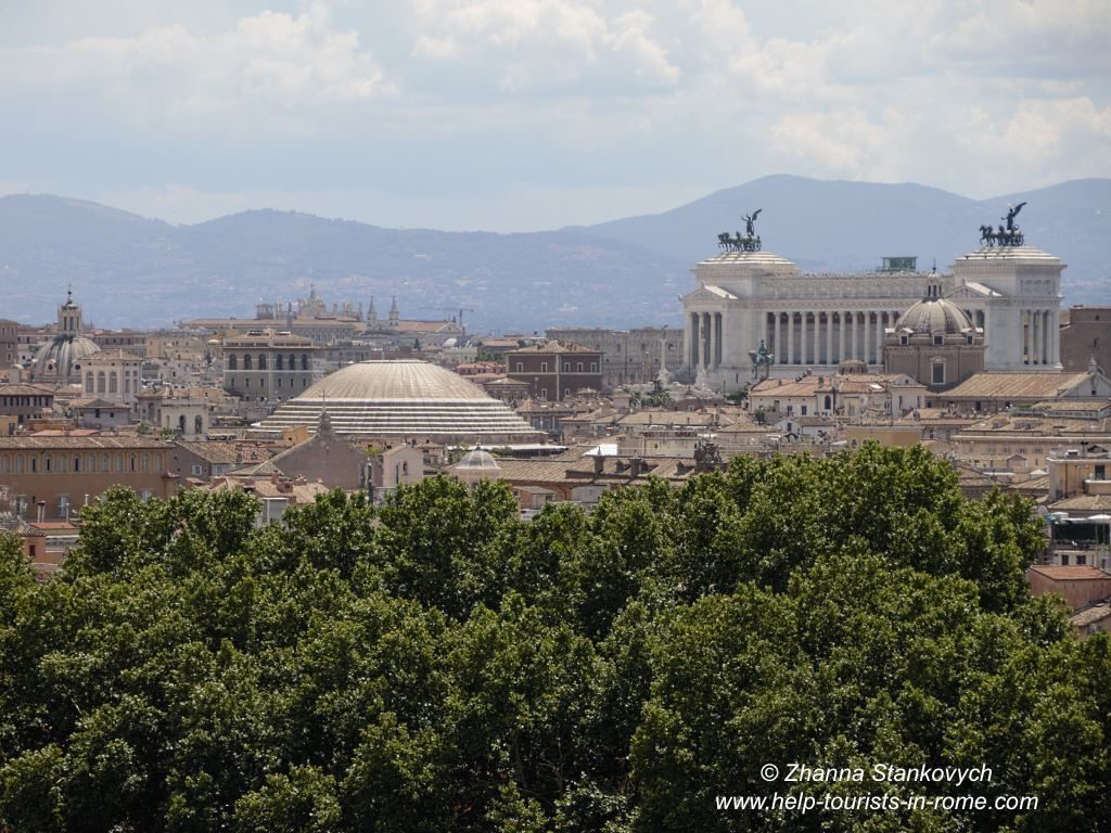 Castel Sant'Angelo Rome and Pantheon