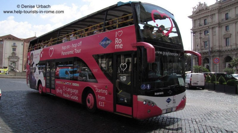Hop-on hop-off Rome: Prices, tickets, routes and bus stops for Hop-on Hop-off Rome bus tours