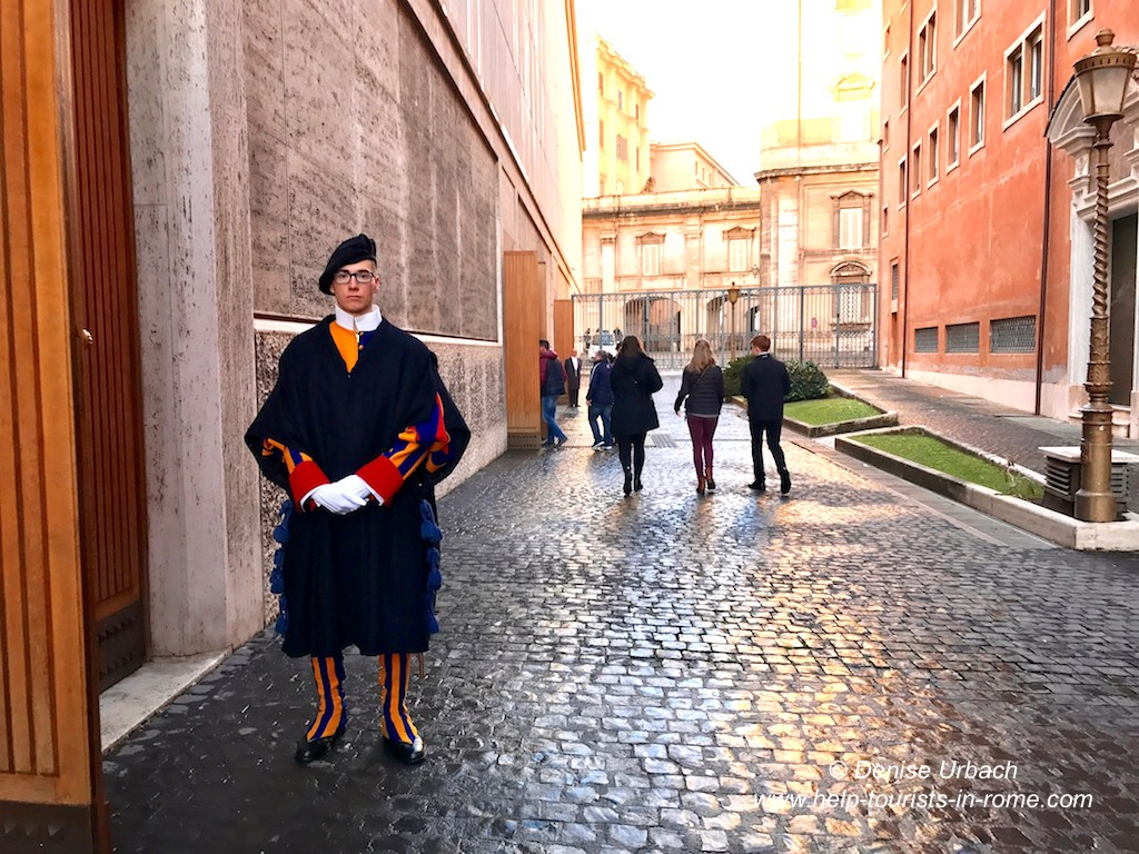 Swiss guard entry papal audience