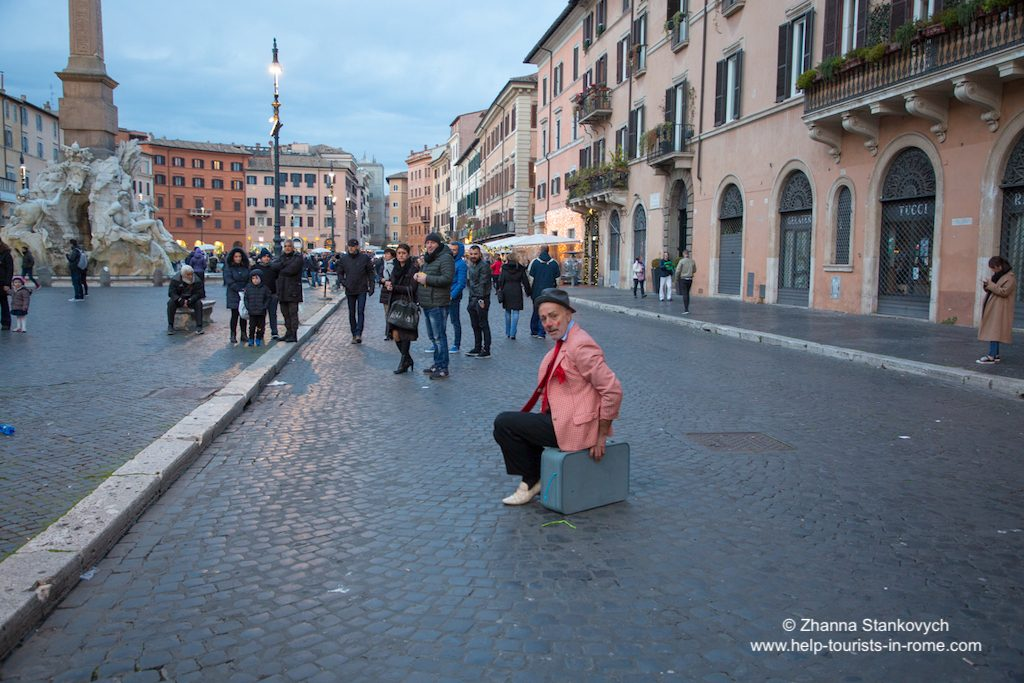 Piazza Navona Strassenkuenstler