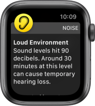 Measure noise levels with Apple Watch