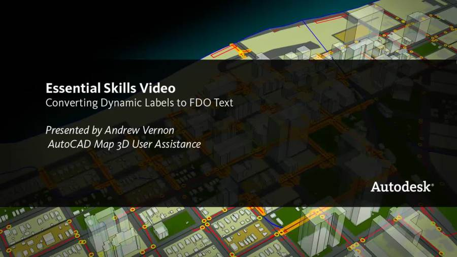 Video  Convert Labels to FDO Text   AutoCAD Map 3D   Autodesk     Video  Convert Labels to FDO Text   AutoCAD Map 3D   Autodesk Knowledge  Network