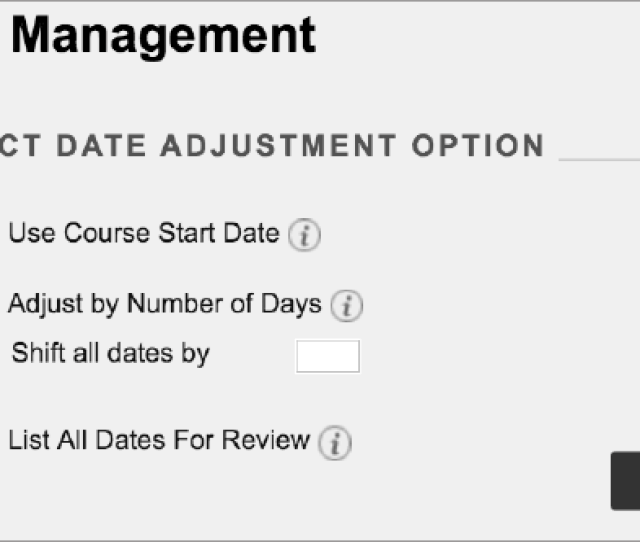 On The Date Management Page You Can Choose To Adjust Dates Automatically Or Individually From One Convenient Location