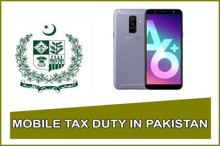 Samsung Galaxy a6 Plus mobile tax in pakistan