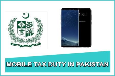 Samsung Galaxy s8 mobile tax in pakistan