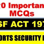 asf act 1975 mcqs 2020