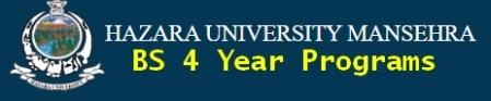 Hazara University Manshera bs program