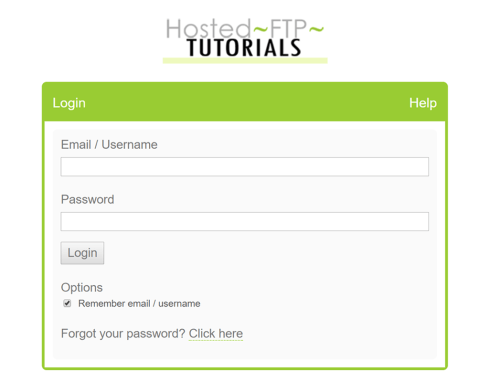 Example of custom login screen