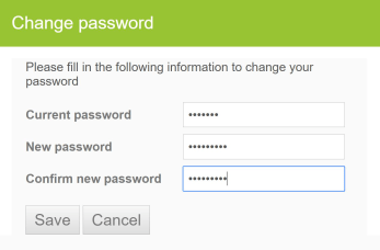 Change Reset Password