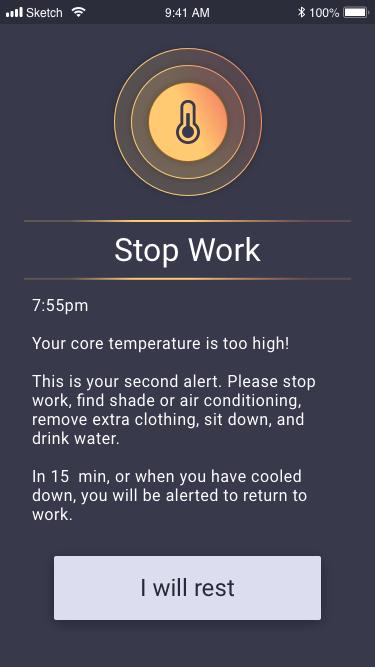 kenzen stop work order screenshot