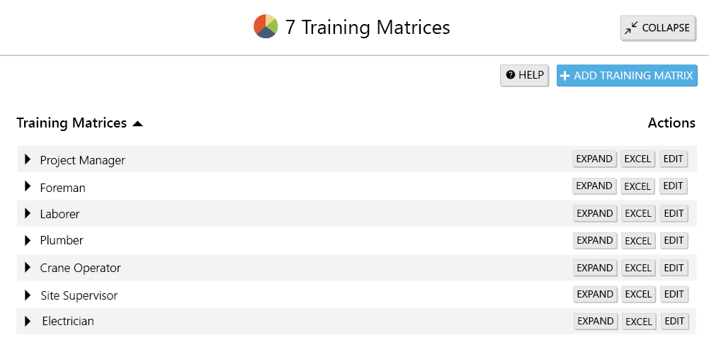 training-matrices-myComply