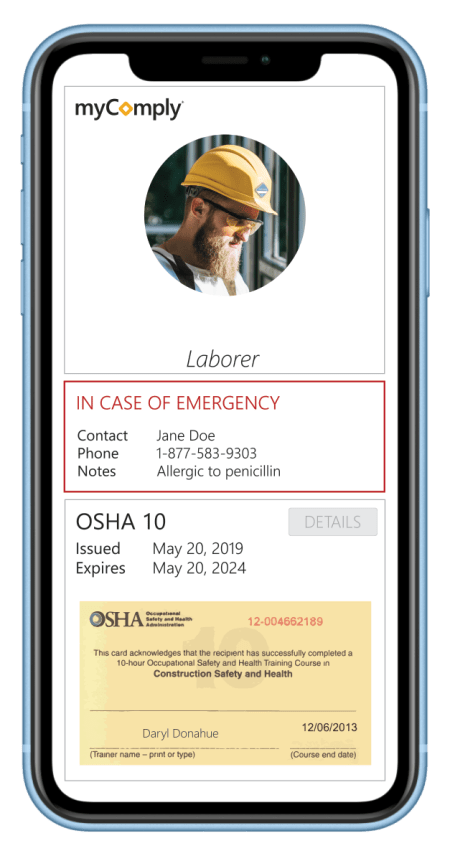 Certification Manager on mobile