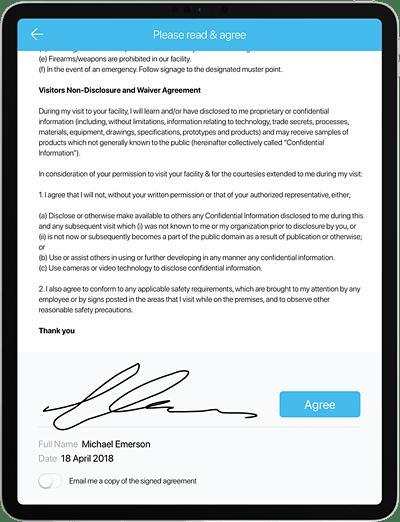 visitor management system screenshot