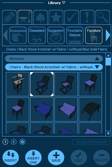 Pool Studio Library Panel Items Tab