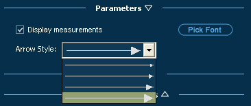Pool Studio Panel Parameters Measure Tool Options
