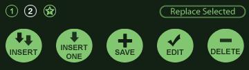 VizTerra Library Panel Buttons