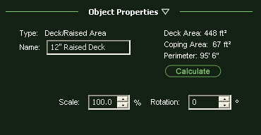 VizTerra Object Properties Panel