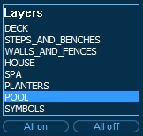 Pool Studio AutoCAD Layers