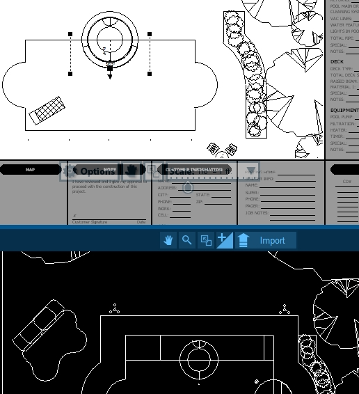 Pool Studio AutoCAD View in the Construction Stage