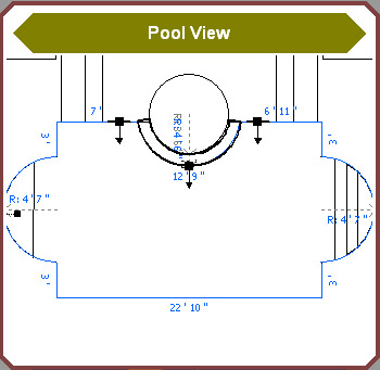 Pool Studio Construction Editing 2D View Blocks