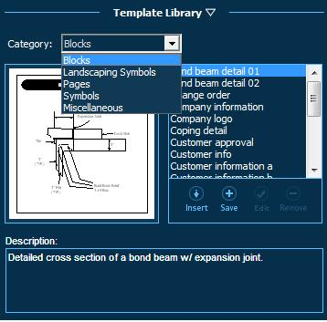 Pool Studio Construction Template Library Categories