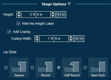 Pool Studio Decks Stage Options