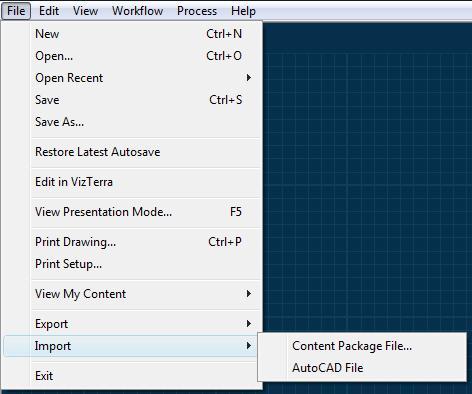 Pool Studio File Import Menu