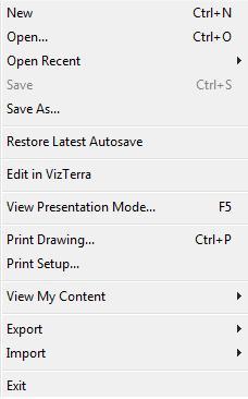Pool Studio File Menu Edit in VizTerra