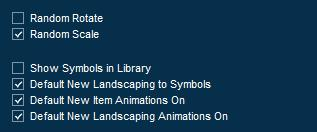 Pool Studio Landscaping Library Item Options