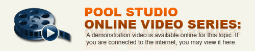 Pool Studio Visual Features Help Videos Are Available