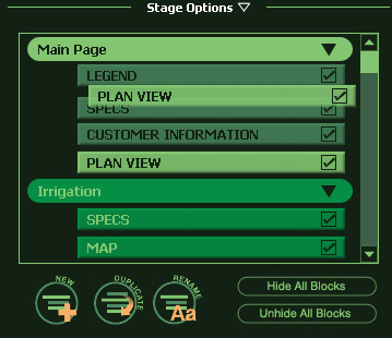 VizTerra Construction Stage Options moving block