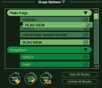 VizTerra Construction Stage Options moving block