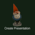 VizTerra Create Presentation Gnome Button