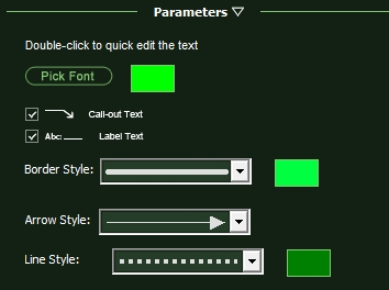 VizTerra Parameters Adding Text