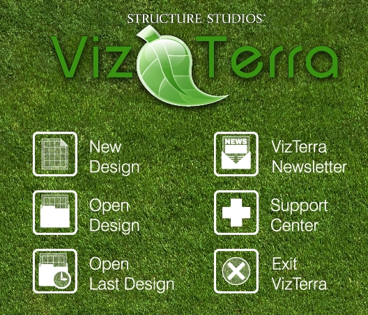VizTerra Tutorial Step 1 Beginning a New Design