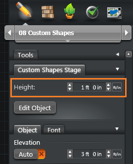 Custom Shapes Height