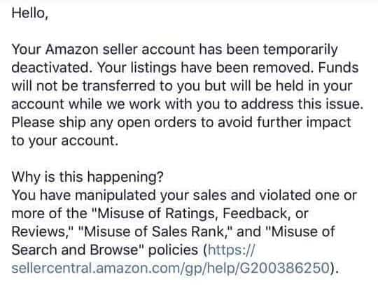 Amazon-suspension-email-misuse-of-rating-feedback-or-review