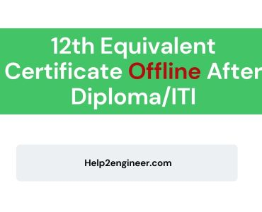 Diploma/ITI Equivalent 12th Certificate in Gujarat
