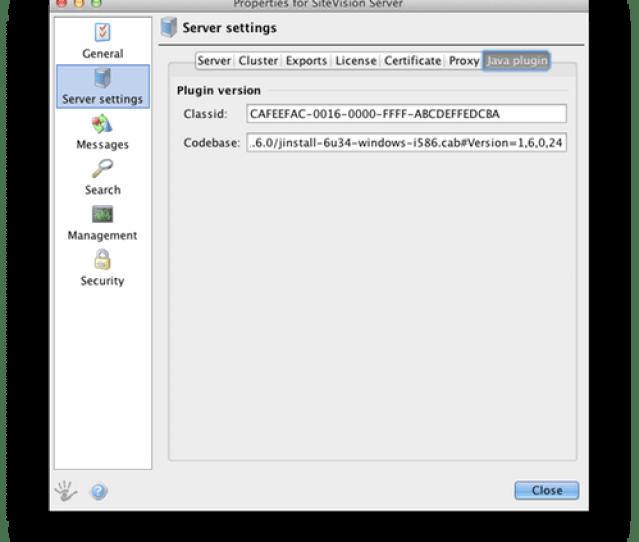 Screenshot Of The Tab Java Plugin