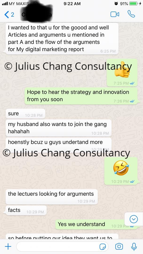 Our Satisfied Customer Testimonials Malaysia Assignment