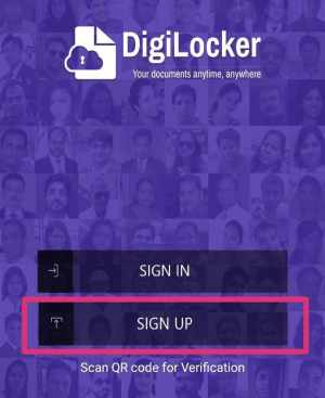 sign up on digilocker