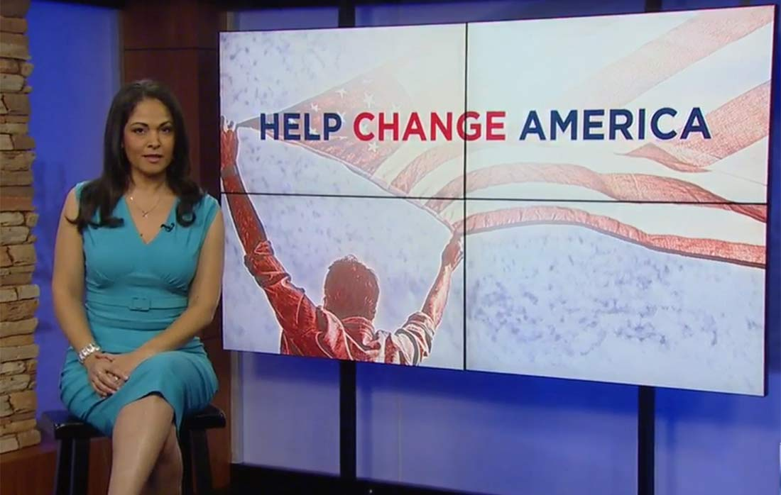 Sharon Tazewell covers help change america campaign