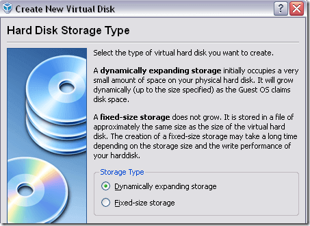 dynamically expanding storage