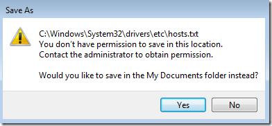 windows 7 hosts file