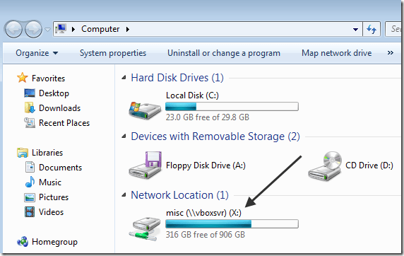 mapped network drive