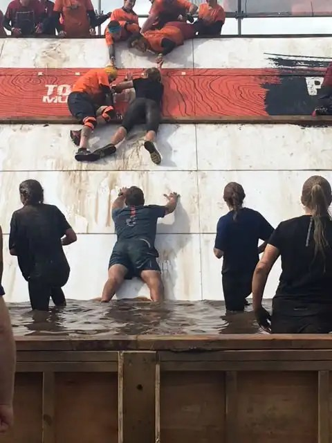 Tough Mudder Pyramid Scheme Obstacle